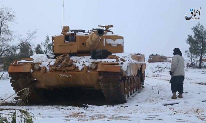 Захваченный террористами в Сирии Леопард