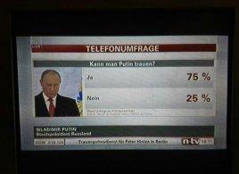 80% немцев верят Путину