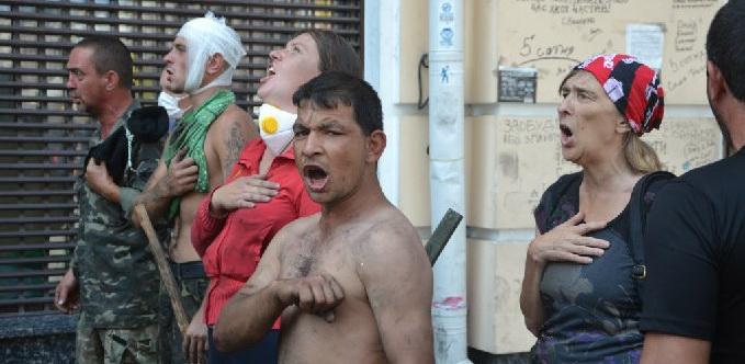 Визг украинской интеллигенции после снятой с головы кастрюли