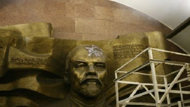 Photo of В киевском метро повредили горельеф Ленина