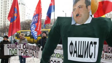 Photo of В Киеве сожгли чучело Саакашвили