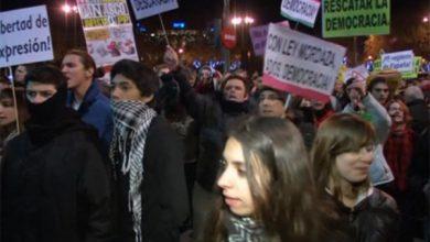 Photo of В Мадриде столкновения демонстрантов с полицией