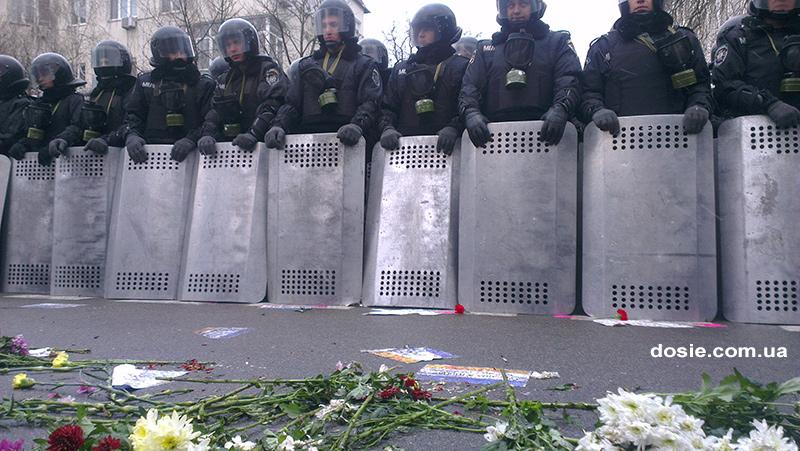 8 декабря 2013 г., г.Киев - пересечение улиц Лютеранская и Банковой.