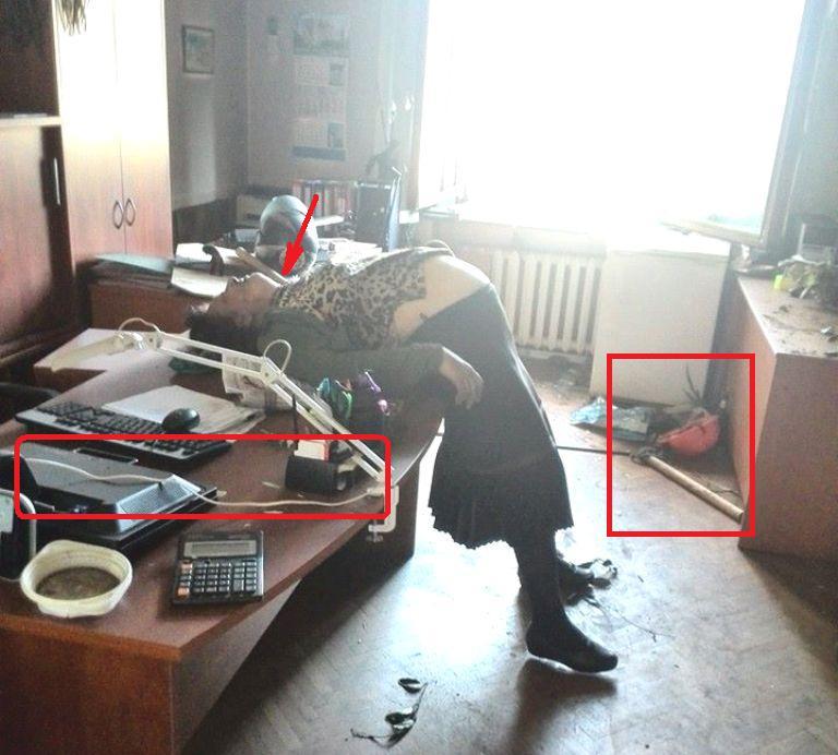 2 мая, Одесса. Убитая украинскими неонацистами беременная женщина в Доме профсоюзов