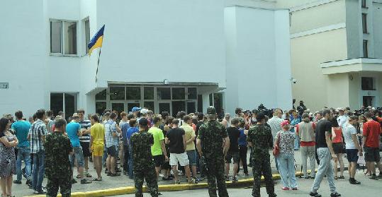 В Киеве состоялся митинг против карательной операции на Донбассе (фото)