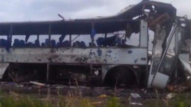 Photo of Боевики АТО обстреляли автобус с гуманитарной помощью (видео)
