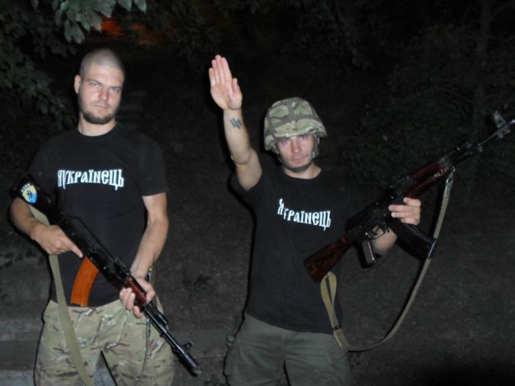 Боевики карательного батальона «Азов»