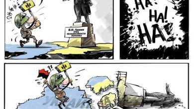 Photo of Украинские нацисты разрушают памятники одному из основателей Украины