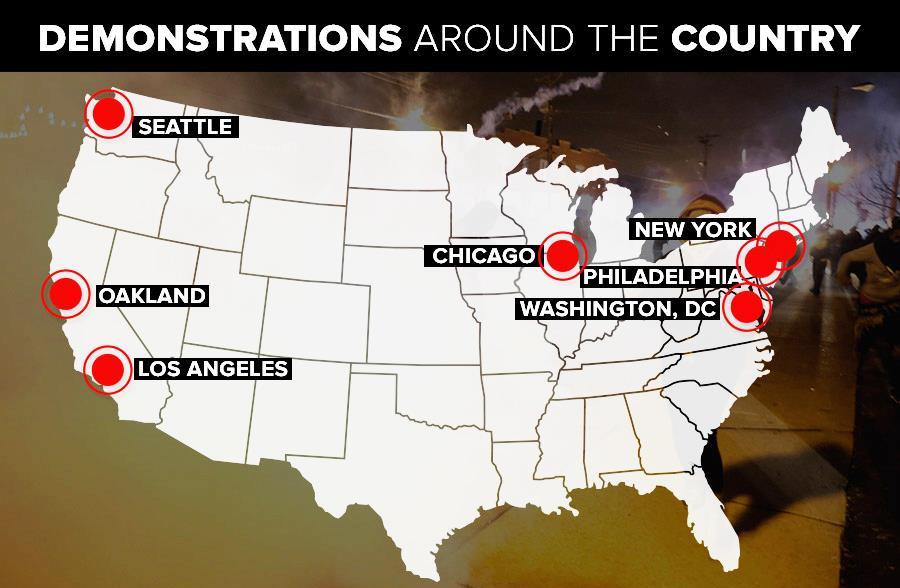 Американский майдан распространился и на другие города США