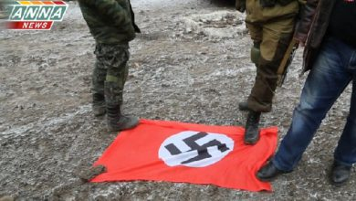 "Photo of Антифашисты под Мариуполем захватили флаг карательного батальона ""Азов"""