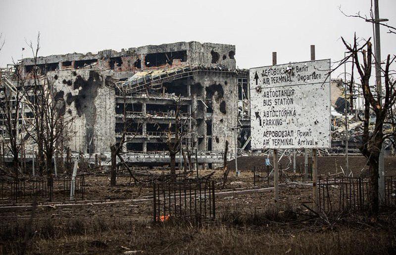 Руины донецкого аэропорта. Фото конца февраля 2015г.