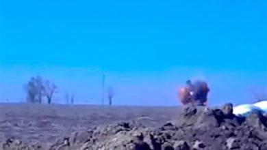 Photo of Уничтожение танка карателей 14 мая 2015г.