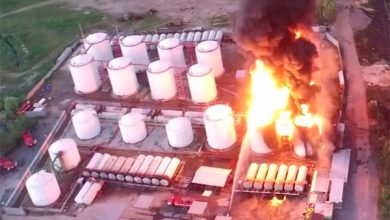 Photo of Видео взрыва нефтебазы под Киевом