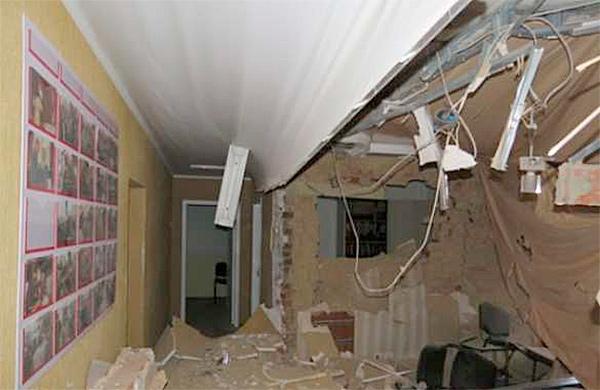 Ночью в Сумах взорвали офис партии «Батьківщина»