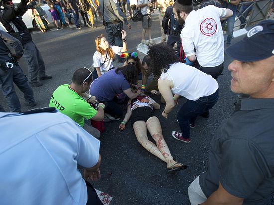 Гей-парад в Иерусалиме порезал ортодоксальный еврей
