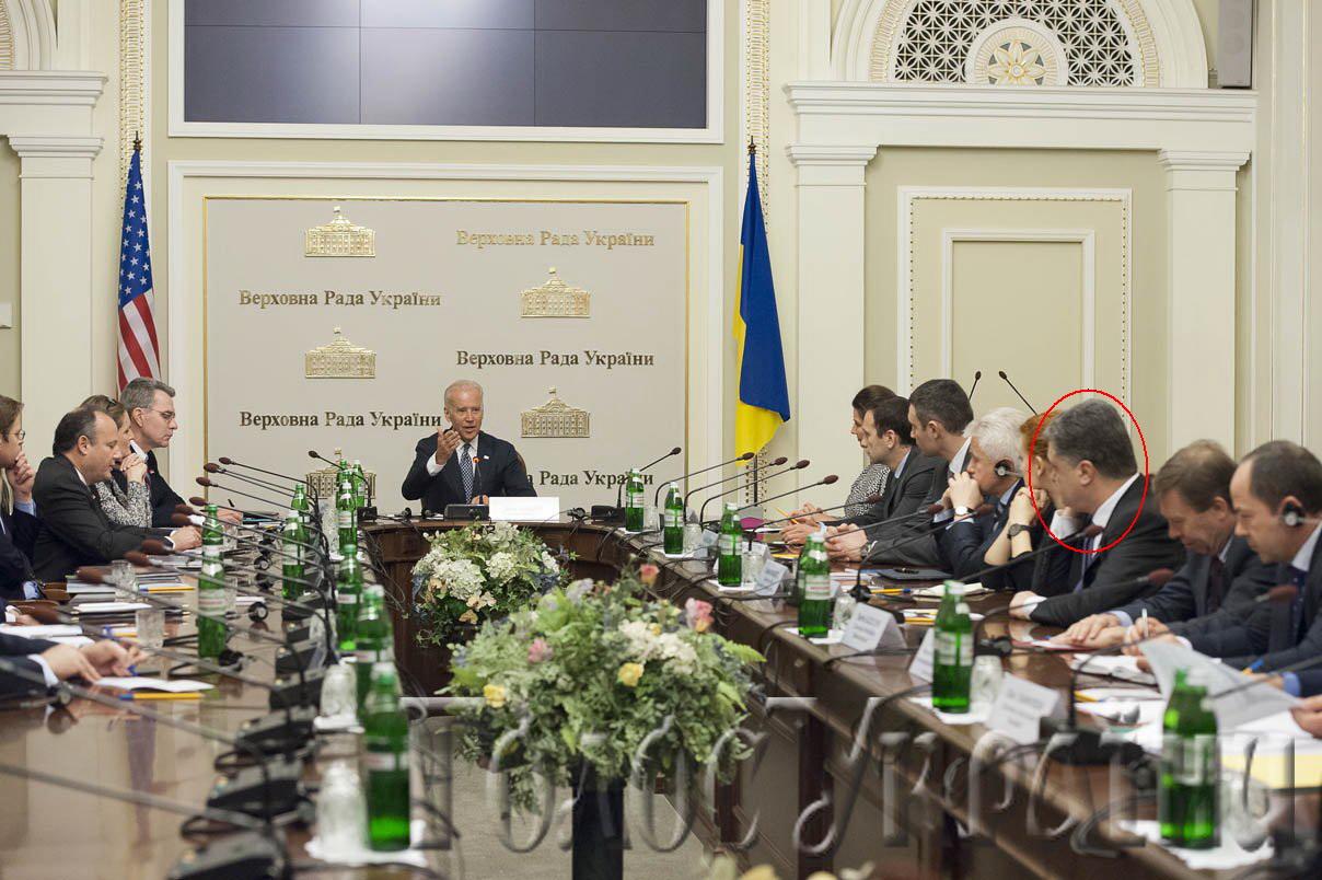 Джо Байдена в кресле президента Украины