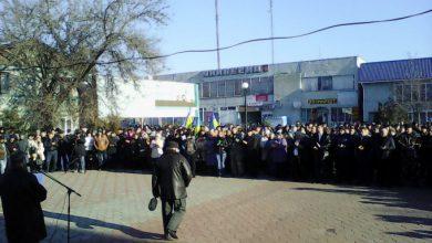 Photo of В Херсоне — массовый митинг против украинских нацистских банд