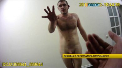 Photo of В Киеве голый наркоман с откушенным ухом напал на полицейских