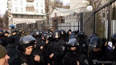 Photo of В Киеве забросали российское посольство яйцами и облили зеленкой