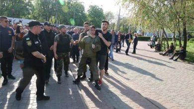 Photo of Пришедшие на Куликово поле украинские фашисты получили по морде