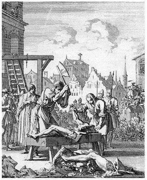 По британским законам, за измену полагалась «квалифицированная казнь».