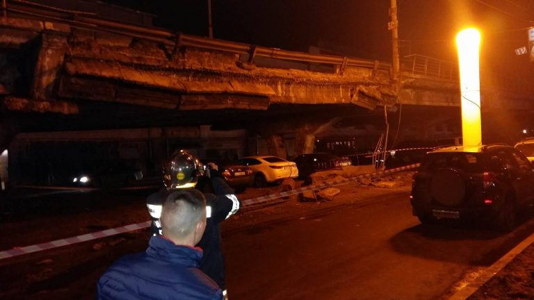 Шулявский мост в Киеве разрушился