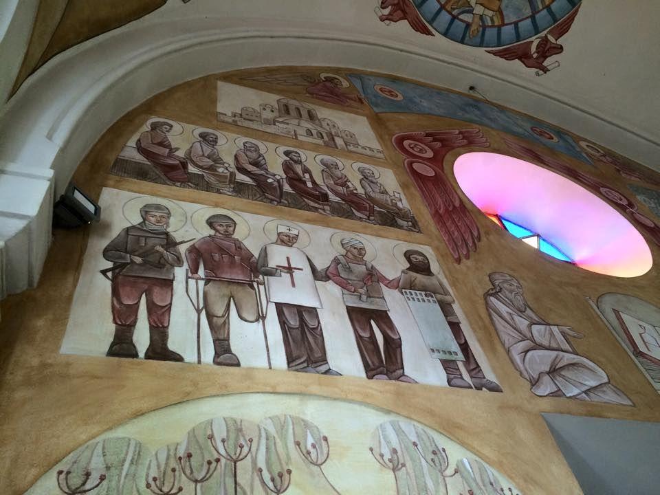 Храм УГКЦ: «святые» убийцы атошники и «святой» укроп; г. Львов