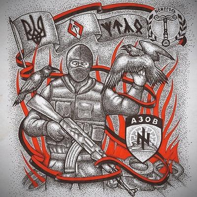 Дехристианизация и фашизация Украины: на рисунке языческая (руны) и фашистская символика – образ патриота