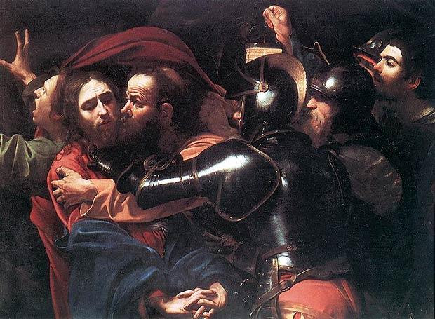 картина Караваджо «Поцелуй Иуды»
