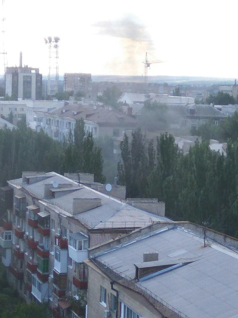 Взрыв в Луганске в районе прокуратуры