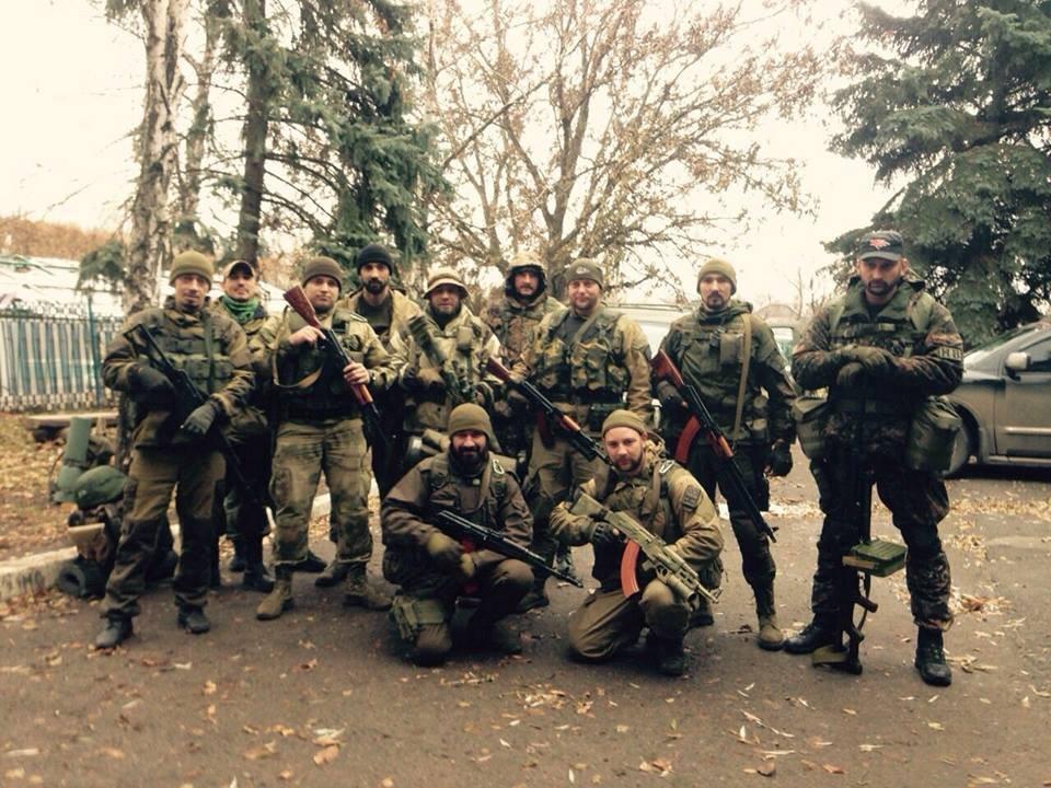 «Ночные волки – Донбасс». Тревожная группа перед выходом, осень 2015 г.