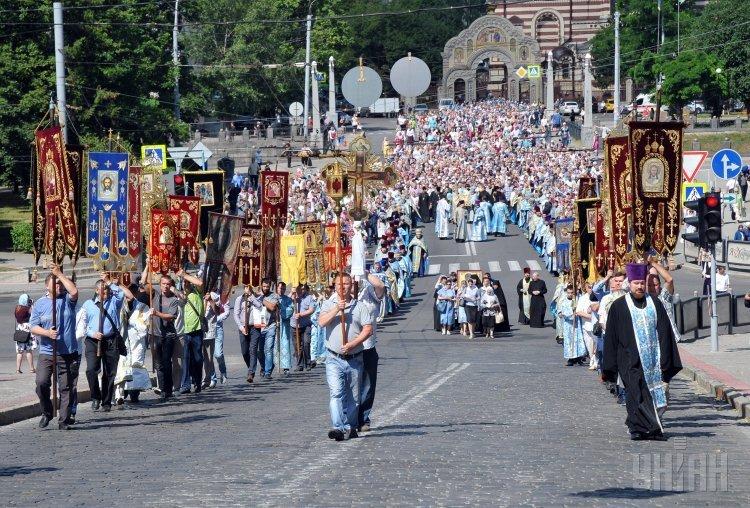 Июльский крестный ход УПЦ МП в Харькове