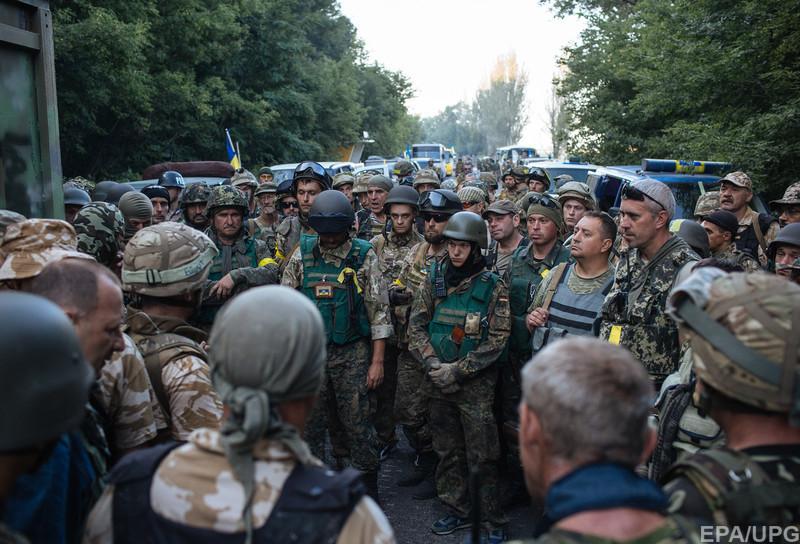 Банда украинских нацистов перед нападением на Иловайск