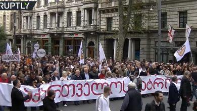 Photo of В Грузии прошёл марш за нормализацию отношений с Россией