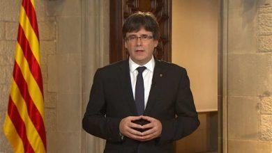 Photo of Глава Каталонии во время своего выступления убрал лишние флаги