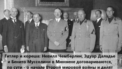 Photo of «Мюнхенский сговор»: 80 лет назад Франция и Великобритания спровоцировали Вторую мировую войну