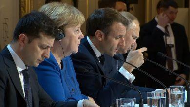 Photo of Пресс-конференция лидеров России, Германии, Франции и Украины по итогам встречи в нормандском формате